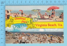 Greetings From - Virginia Beach  , Multiviews  - USA - 2 Scans - Souvenir De...