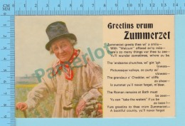 Greetins Vrum - Zummerzet  - England- 2 Scans - Souvenir De...