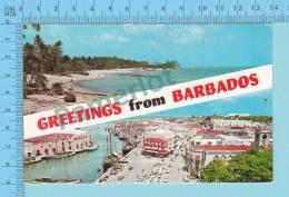 Greetings From  - Barbados Multiview - West Indies- 2 Scans - Souvenir De...
