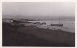 View Of Dead Sea,  Docks And Boats, C1950s(?) Vintage Real Photo Postcard - Israel