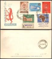 Fdc Venetia Som 1960 21s Istituto Niversitario Della Somalia Raccomandata - Somalia (AFIS)