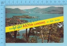Greetings From -  Bolton Landing On Lake George , Multiview   - New York USA - 2 Scans - Souvenir De...