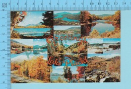 Greetings From - Lake Placid  , Multiview   - New York USA - 2 Scans - Souvenir De...