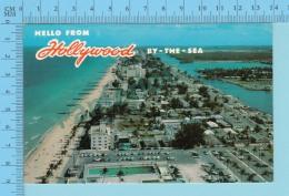 Hello From - Hollywood By The Sea - Florida  USA - 2 Scans - Souvenir De...
