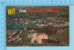 HI ! From -University Of Miami - Florida  USA - 2 Scans - Souvenir De...