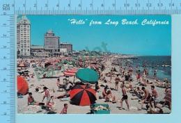 Hello From -Long Beach  -  California USA - 2 Scans - Souvenir De...