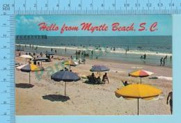 Hello From -  Myrtle Beach  -  South Carolina USA - 2 Scans - Souvenir De...