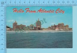 Hello From - Atlantic City  -  New Jersey USA - 2 Scans - Souvenir De...