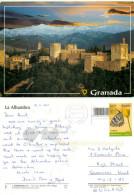 Alhambra, Granada, Spain Postcard Posted 2011 Stamp - Granada