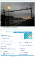 Bridge, Portugalete, Spain Postcard Posted 1995 Stamp - Vizcaya (Bilbao)