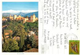 Alhambra, Granada, Spain Postcard Posted 2012 Stamp - Granada