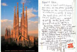 Sagrada Familia, Barcelona, Spain Postcard Posted 2012 Stamp - Barcelona