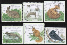 2004 Finland, Forest Animals, Complete Used Set.