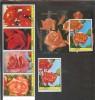 AJMAN  Flowers(roses) Set 5 Stamps+S/Sheet  MNH - Plants