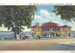 ETATS UNIS - UNITED STATES OF AMERICA - WISCONSIN - Muniçcipal Récréation Building Lake Geneva - Etats-Unis