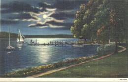 ETATS UNIS - UNITED STATES OF AMERICA - WISCONSIN - Moonligtht On  Lake Geneva Williams Bay - Etats-Unis