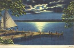 ETATS UNIS - UNITED STATES OF AMERICA - WISCONSIN - Moonligtht At Collège Camp On Lake Geneva - Etats-Unis