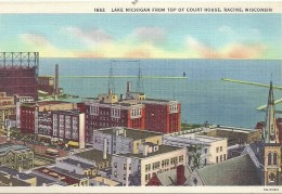 ETATS UNIS - UNITED STATES OF AMERICA - WISCONSIN -  Lac Michigan From Top Of House Racine - Etats-Unis
