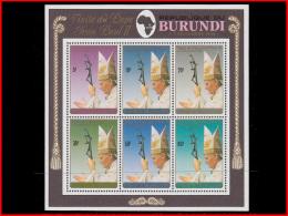 Burundi BL 0126**  Visite De Jean Paul II  MNH