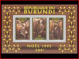 Burundi BL 0136**  Noel 1995  MNH