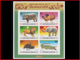 Burundi BL 0127A**  Animaux D'Afrique  MNH