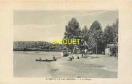 51 Marcilly Sur Seine, La Plage, N° 1, Carte Pas Courante - Other Municipalities