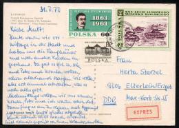 6956 - Alte Ansichtskarte - Katowice - Express 1972 - Briefe U. Dokumente