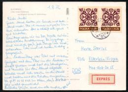 6958 - Alte Ansichtskarte - Katowice - Express 1972 - Briefe U. Dokumente