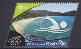 2016 NOUVELLE-ZÉLANDE New Zealand Road To Rio ** MNH Natation Swimming Schwimmen Natación [DY04]