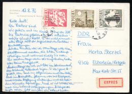 6961 - Alte Ansichtskarte - Katowice - Express 1972 - Briefe U. Dokumente