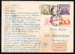 6965 - Alte Ansichtskarte - Krakau Kraków - Express 1972 - Briefe U. Dokumente