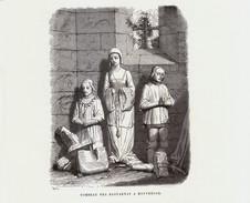 1869 - Gravure Sur Bois -  Montrésor (Indre-et-Loire) - Le Tombeau Des Bastarnay -  FRANCO DE PORT - Estampes & Gravures