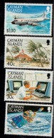 1991 Cayman Islands Hurricane Awareness Weather Plane   Complete Set Of 4 MNH - Kaaiman Eilanden