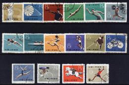 A4293) PR China 1959 Sporttreffen Mi.495-510 Gestempelt Used - 1949 - ... République Populaire
