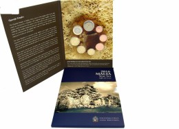 EURO SET MALTA 2016 (1C TO 2E)  IN ORIGINAL FOLDER  BU - Malte
