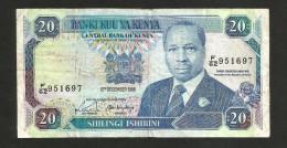 [NC] KENYA - CENTRAL BANK Of KENYA - 20 SHILLINGS (1988) - D. TOROITICH ARAP MOI - Kenia