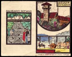 Folheto Desdobravel ENTRE OS RIOS - Aguas De S Vicente - Com Carroça Bois (Porto) Informação CHARLES LEPIERRE - PORTUGAL - Porto