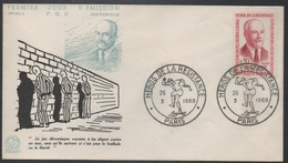 III REICH - RESISTANCE / 1960 ENVELOPPE FDC PIERRE MASSE # 1249 (ref LE772) - Militaria