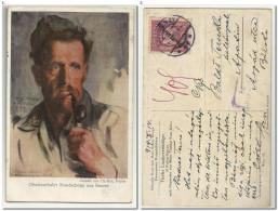 Austria Old Art Maler Thomas Riss - Tiroler Landesverteidiger , Red Cross Kriegshilfsburo , Zensuriert 1919 - Künstlerkarten