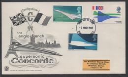 CONCORDE - AVIATION / 1969 GB ENVELOPPE FDC ILLUSTREE (ref LE775)