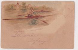 Illustration 2 Jeunes Rameurs Course Aviron 1905 Precurseur - Aviron