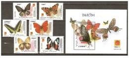 Vietnam Viet Nam MNH Perf Stamps & Souvenir Sheet 2001 : Butterfly (Ms868) - Vietnam