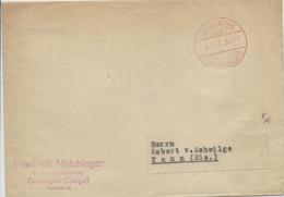 "1942 - ENVELOPPE De GEISLINGEN Avec CACHET ""GEBÜHR BEZAHLT"" Pour THANN (ALSACE) - Marcofilia - EMA ( Maquina De Huellas A Franquear)"