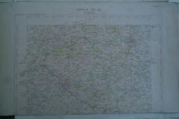 23 -87- BOURGANEUF - CARTE GEOGRAPHIQUE FIN XIXE - MORTEROLLES- CHAMPNETERY- SAINT LEONARD- MASLEON-BILLANGES-BUJALEUF- - Cartes Géographiques