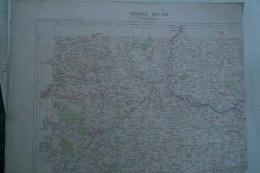 87-16- ROCHECHOUART-CARTE GEOGRAPHIQUE FIN XIXE -  ANSAC-EXIDEUIL-CHASSENEUIL-CHABANAIS-MONTEMBOEUF-SAULGOND-CHABRAC- - Cartes Géographiques