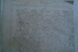 86 - MONTMORILLON-CARTE GEOGRAPHIQUE FIN XIXE - LATHUS-TERSANNES-TRIMOUILLE-MOULISMES-THIAT-LUSSAC-THOLLET-LIGNAC- - Geographical Maps
