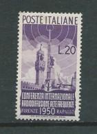 Italie - 1950 - Y&T 561 - Neuf * - 6. 1946-.. Republic