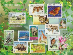 S. TOME E PRINCIPE WWF 2010 Sheet Imperforated MNH With Animals - W.W.F.