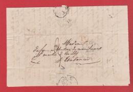 Lettre De Caen    -  Pour Coutances  -- 21 Mars 1833 -- - Storia Postale