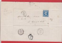 Lettre De Granville   -  Pour Cerisy La Salle  -- 18 Dec 1861 - Marcophilie (Lettres)
